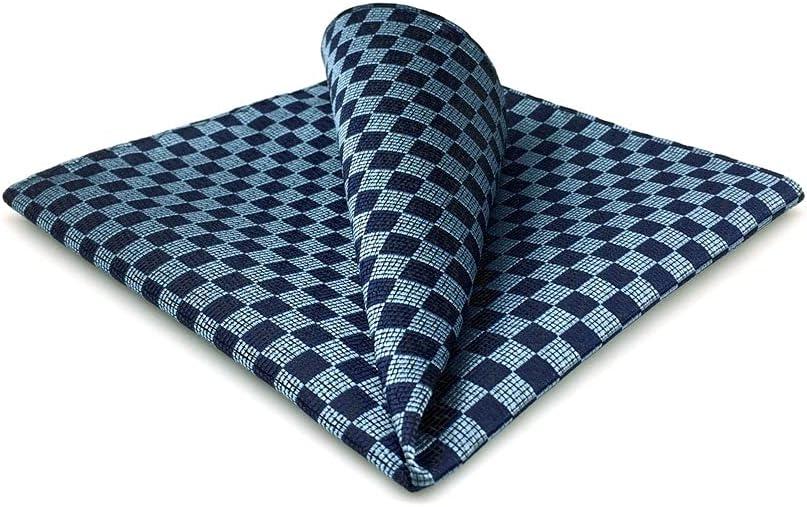 YFQHDD Mens Pocket Square Wedding Silk Handkerchief Party Hanky Classic Fashion (Color : E, Size : 32x32CM)