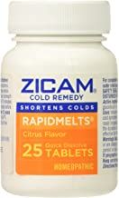 Zicam Cold Remedy Rapid Melts Vitamin C Citrus Quick Dissolve Tablets, 2 Count