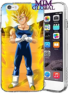 MIM Global Dragon Ball Z Super GT Protectores Case Cover Compatible para Todos iPhone (iPhone 6 Plus/6s Plus, Majin Vegeta)