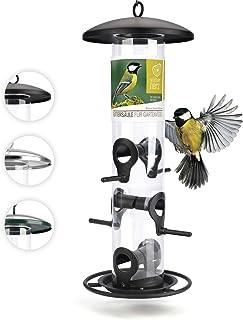 Mangeoire Oiseaux Exterieur 35cm - Distributeur Graines Oiseaux, Mangeoire à Oiseaux Distributeur Suspendu Imperméable d'E...