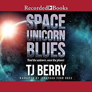 Space Unicorn Blues audiobook cover art