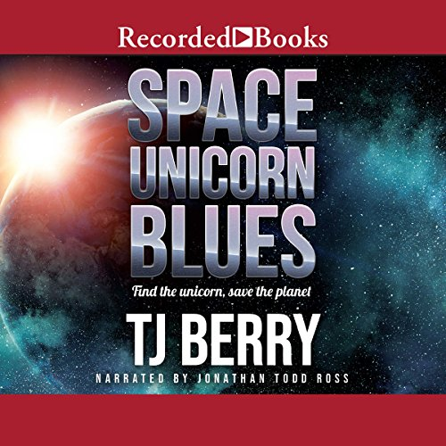 Space Unicorn Blues audiobook cover art