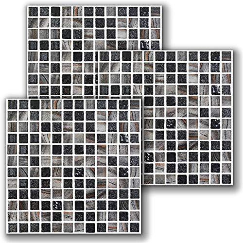 Pegatinas de azulejos, 10 unids Traslados de azulejos de pared Etiqueta autoadhesiva Peel and Stick Stracksplash Pegatinas de mosaico 3D Etiquetas de pared Vinilo Impermeable Aparejos Azulejos Tiles C