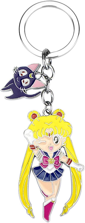 Sailor Moon Keychain Tsukino Usagi Keychain with Love Keychain Keyring Keychain
