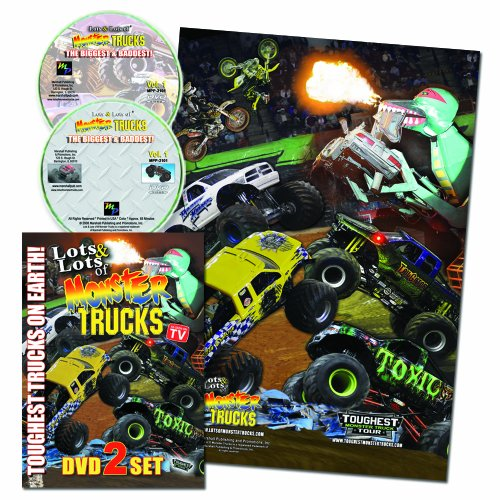 Lots of Monster Trucks 2 DVD Set w/ FREE Poster AS SEEN ON TV!