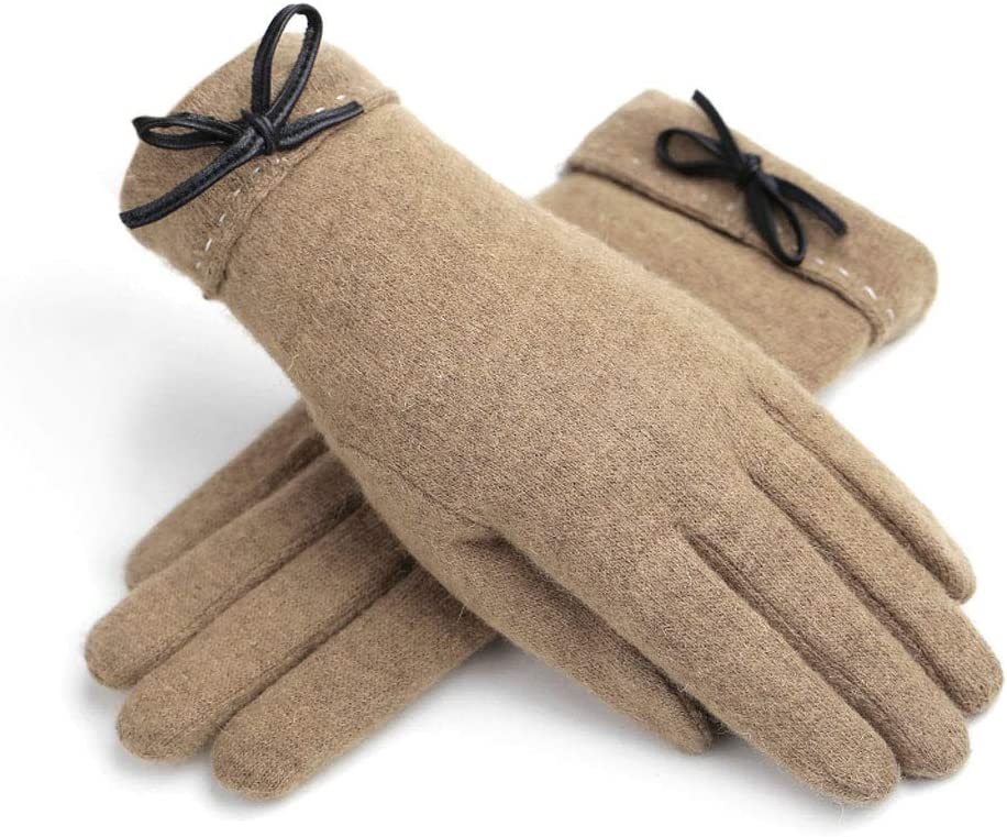 gloves Touch Screen Ladies, Warm and Velvet Cold Cotton, Outdoor Driving/Travel