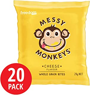 Messy Monkeys Cheese Flavoured Whole Grain Bites 20 Pack, 400 g
