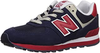 Boys 574v1 Lace-Up Sneaker, Navy/Red, 12 A M US Toddler (1-4 Years)