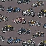 Nutex, NU120, Motorrad-Stoff, Motorräder, grau,  0,5 m,