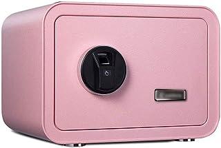 Cabinet Safes, Fingerprint Safe 25cm Thicken Safe Deposit Box, Household Small Office Safes Bedside Wardrobe Password Stor...