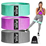 MhIL Resistance Bands - Best Exercise Bands for Women and Men - Thick Elastic Fabric Workout Bands for Working Out Legs, Butt, Glute- Stretch Fitness Booty Loops Bands for Gym, Weights & Squats