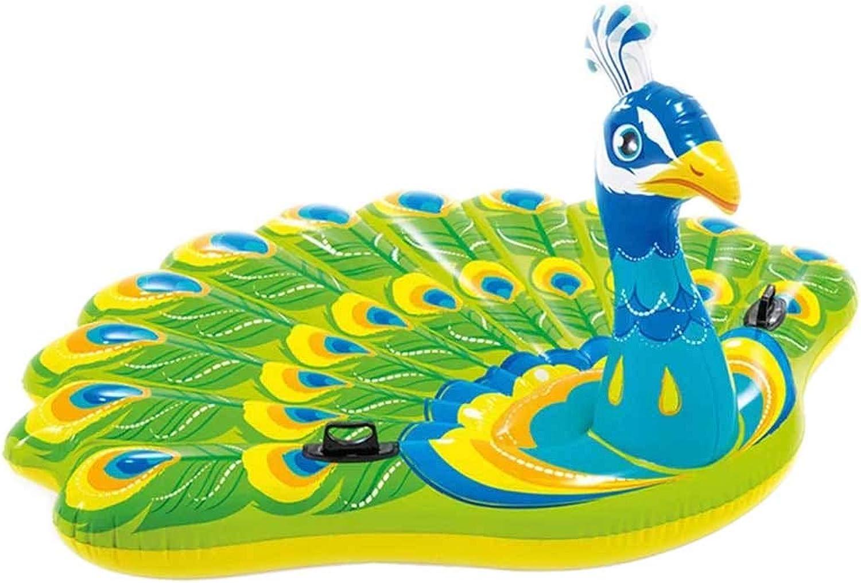 Flottant Gonflable,TianranRT flotteHommest de bouée de paon joue la piscine gonflable géante de flotteHommest pour la parcravate de piscine joue pour des adultes et des enfants grande bouée gonflable
