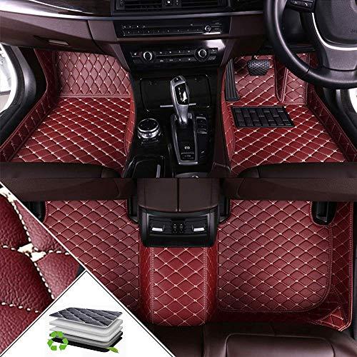 Alfombrillas de coche para Lan d Ro ver Freelander 2 2010-2015 protección completa rodeada de cuero XPE impermeable antideslizante alfombrilla de coche vino rojo Land Rover Freelander 2 2010-2015