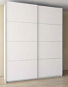 PEGANE Armoire avec 2 Portes coulissantes Coloris Blanc - Dim : 150 x 60 x 220 cm