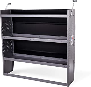 AA Products Inc. SH-4303 Steel Van Shelving Storage System Fits for NV200, Transit Connect 2014+, Promaster City and Chevy City Express, Contoured Shelving Unit, 32