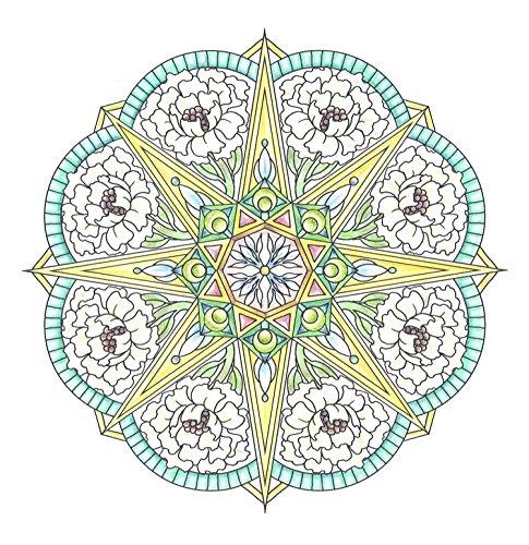 『flower mandalas 心を整える、花々のマンダラぬりえ』の7枚目の画像