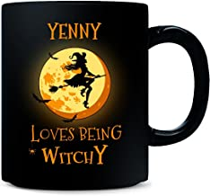 Yenny Loves Being Witchy. Halloween Gift - Mug