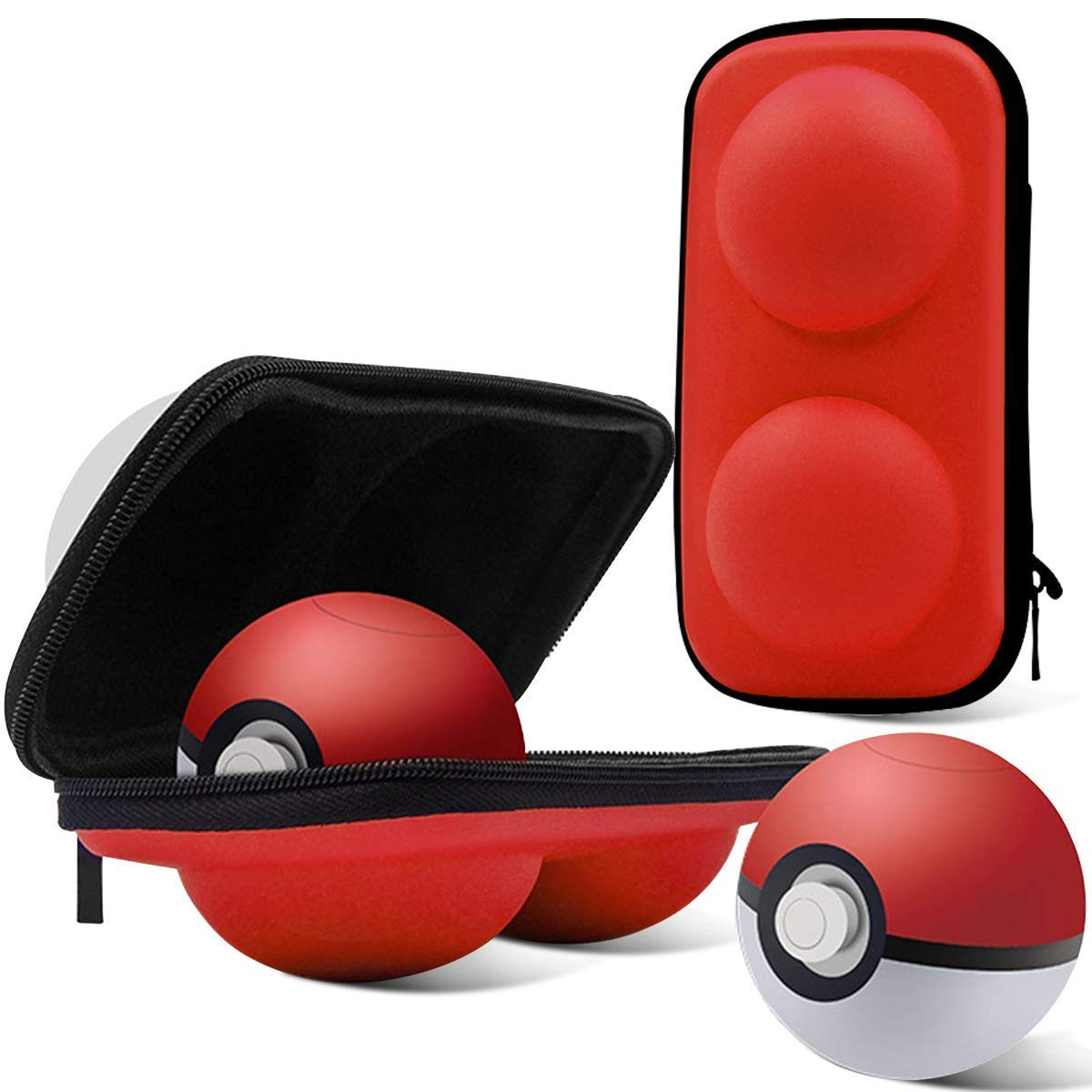 Portable Carrying Case for Nintendo Switch Poke Ball Plus Controller, Accessory Bag for Pokémon Lets Go Pikachu Eevee Game for Nintendo Switch Black: Amazon.es: Videojuegos