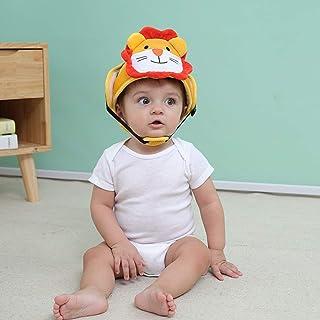 kemai - Casco de Seguridad para bebés y niños con Sombrero antigolpes, algodón, Yellow