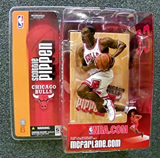 Scottie Pippen #33 Chicago Bulls White Uniform Chase Variant Alternate Action Figure Mcfarlane 6 Inches Tall