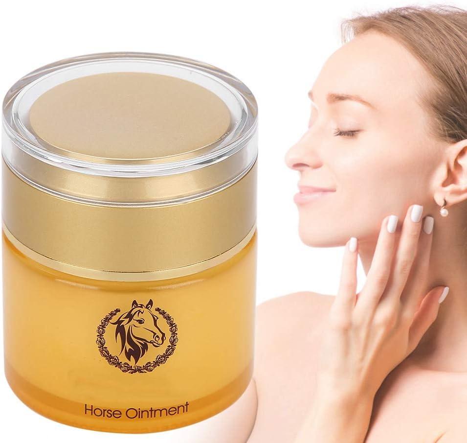Crema facial, crema hidratante con aceite de caballo para el día y la noche, reparaciones, antiedad, antiarrugas y cuidado de la cara