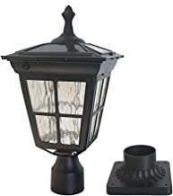 Kemeco ST4311AQ LED Cast Aluminum Solar Post Light Fixture with 3-Inch Fitter Base for..
