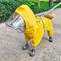 Une veste imperméable à capuche : cette veste de pluie pour chien a une capuche et une ouverture pour la laisse de chien. Vous pouvez accrocher la laisse grâce au trou de col du manteau. Superbe design avec bandes réfléchissantes : design professionn...