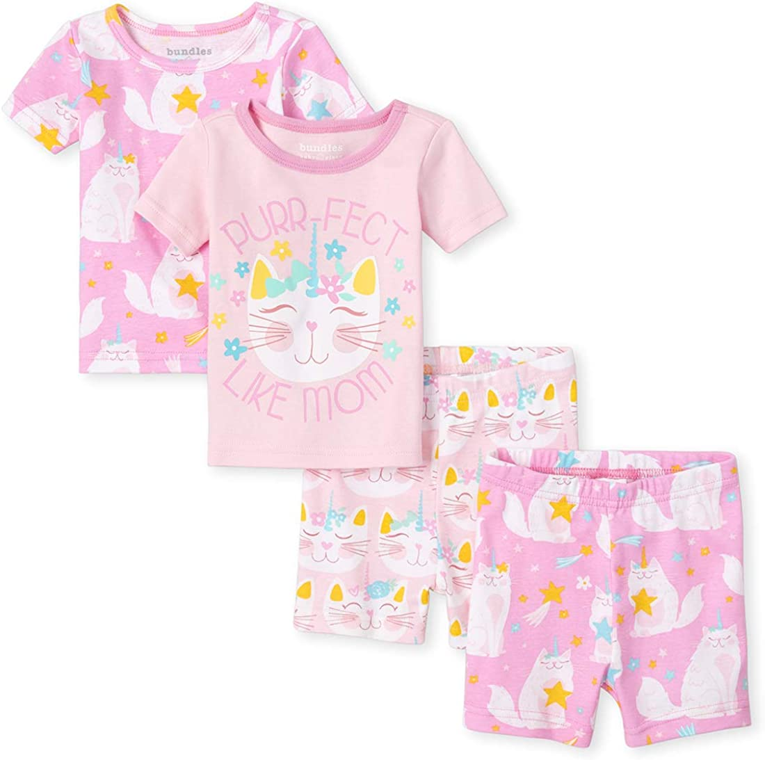 The Childrens Place baby-girls Floral Swan 4-piece Take Me Home Set