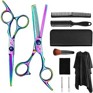 1 Set Professional Hairdressing Scissors Barber Salon Flat Scissors Teeth Scissors Hair Cutting Scissors Hair Styling Tool...