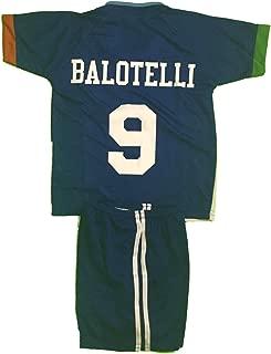 ITALY # 9 BALOTELLI SOCCER KIDS SETS JERSEY & SHORT SIZES 6 .NEW