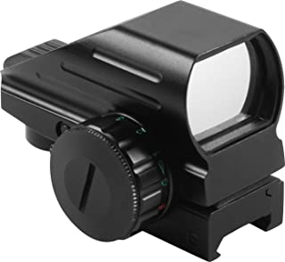 AIM SPORTS Dual Illuminated Reflex Sight with 4 MOA Reticles and Dovetail Mount, Black, Small