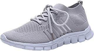 Lightweight Mesh Sneakers for Women,Casual Lace-Up Breathable Running Walking Jogger Shoes