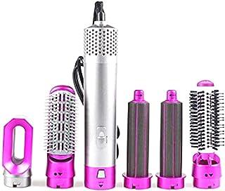 ExH Haarborstel voor haardroger, 5-in-1, heteluchtstyler, elektrisch, draaiend, vermindert krullen en statische elektricit...
