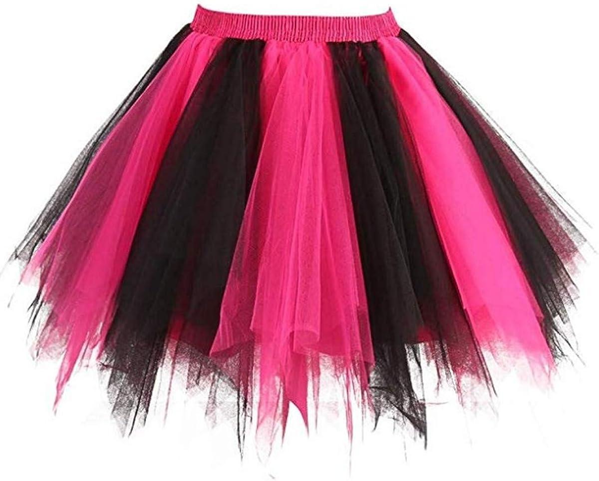 Women 80's Tutu Skirt Layered Tulle Petticoat Halloween Tutu Dance Skirt 18 Colors