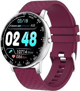LTLJX Hombre Pulsera Actividad Inteligente Impermeable IP68 Pulsera Mujer Pantalla Color HR con Podómetro Pulsera Deporte Presión Arterial Reloj Inteligente Cronómetros para iOS Android,Rojo