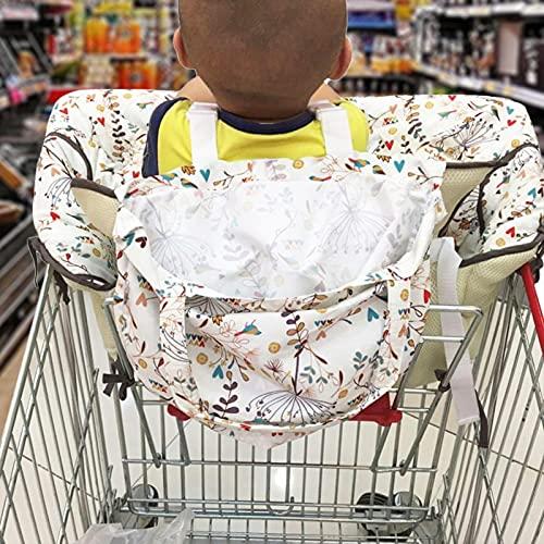 Raspbery Cubierta de Carro de la Compra 2 en 1 Almohadilla de Cubierta de Silla Alta portátil para bebé cojín de Asiento de Carrito de supermercado Ajustable Great Gift