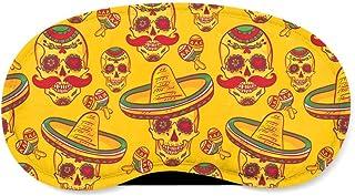 Mexican Sugar Skulls in Gold Sleeping Mask - Sleeping Mask