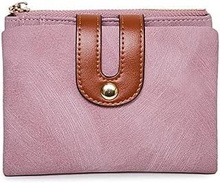 Women's Wallet Short Student Simple Fashion Wild Two Folding Wallet for Girls JJXSHLFLL (Color : Pink)