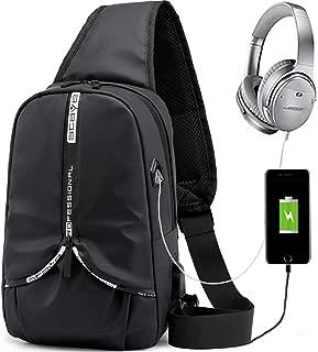 Sling Backpack for men, Lightweight Sling Bag, With Hidden Water Cup Pocket