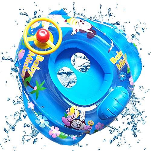 Anello da Nuoto per Bambini, Mickey Salvagente Bambini Galleggiante Regolabile Gonfiabile Bambino Dell'anello di Nuoto del Bambino Anello da Nuoto Gonfiabili (Blu)