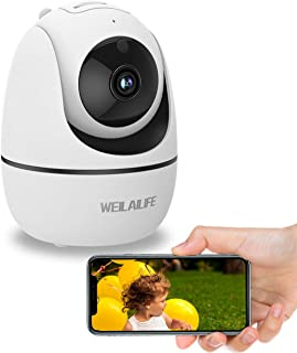 Baby Monitor Camera, 1080P Home Wireless Security Camera, Indoor WiFi Pan/Tilt/Zoom Cam for Elder/Nanny/Pet/Dog, 2 Way Aud...