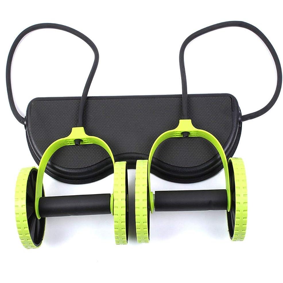 降雨高度驚JS-04多機能腹輪腹筋ホイール腹部ホイールテンションロープ筋肉トレーニングマシン (Panda) (色:多色)