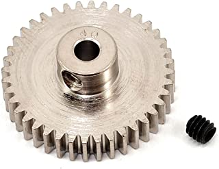 Robinson Racing 1040 Hard Nickel Plated Steel Motor Pinion Gear, 1/8
