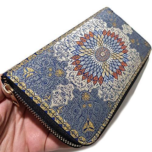 Billetera turca para Mujer con diseño de Alfombra Fina con Cremallera Big...