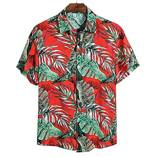 SSBZYES Camisas De Hombre Camisas De Verano De Manga Corta Camisetas Tops De Hombre Camisas De Solapa De Manga Corta De Algodón Camisas Casuales De Algodón para Hombres