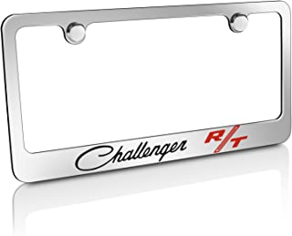 CarBeyondStore Dodge Challenger RT Classic Chrome Metal License Plate Frame,12