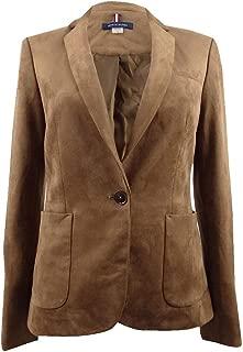 Women's One-Button Faux-Suede Blazer