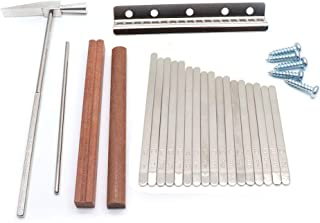 Timiy 17 Key Replacement Kit for DIY Kalimba Mbira Thumb Piano with Tune Hammer