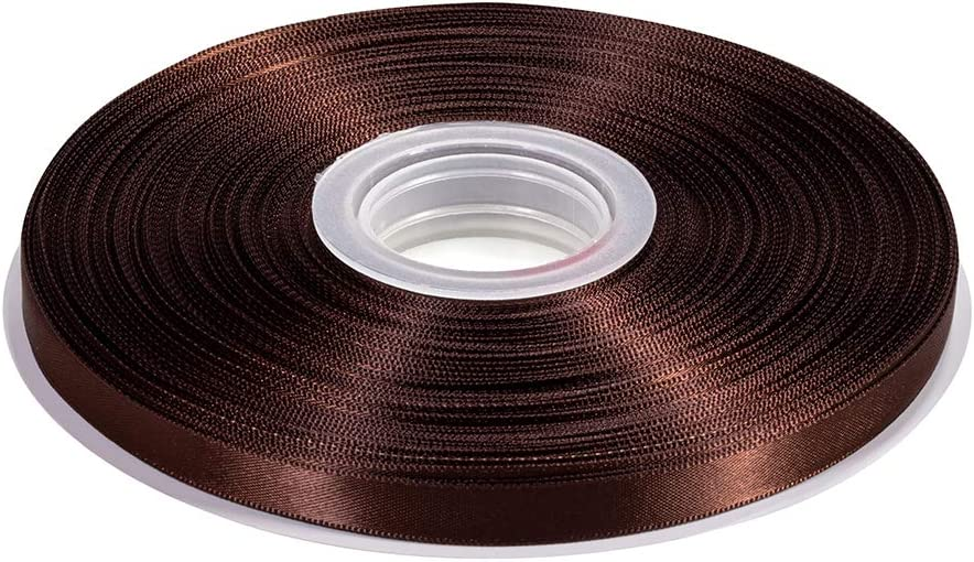 Lkitty 3//8 inch x 50yard//Roll Double Faced Satin Ribbon 100/% Polyester Fabric for Gift Wrapping Party Hair Braids Bow Baby Decoration Arrangement Craft Supplies 9mm 3//8 Brown -