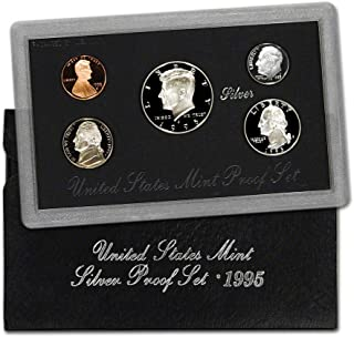 1995 S U.S. Silver Proof 5 Coin Set in Original Box with Certificate of Authenticity Proof